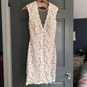 Lace bridal shower dress, with sequin. Size 6